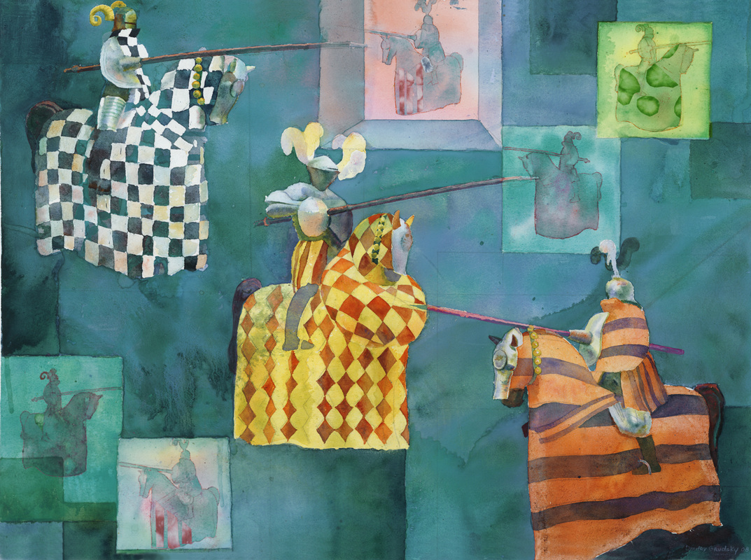 Watercolor artists names -  Tournaments 23 X 30 Watercolor Collage Sold